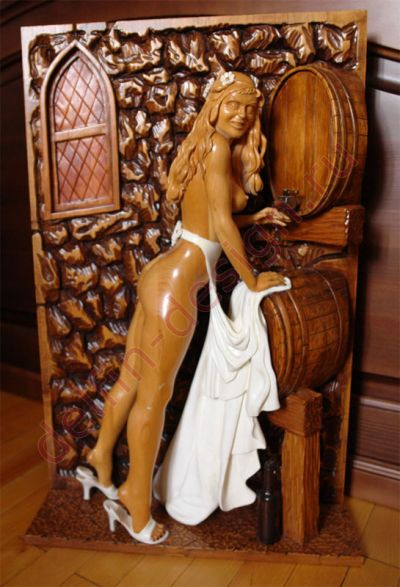 Резное панно и резные скульптуры. Ручная работа