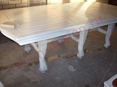 Мебель в летнюю кухню. Техника покраски краколет (кракелюр). Искусственное состаривание мебельных изделий